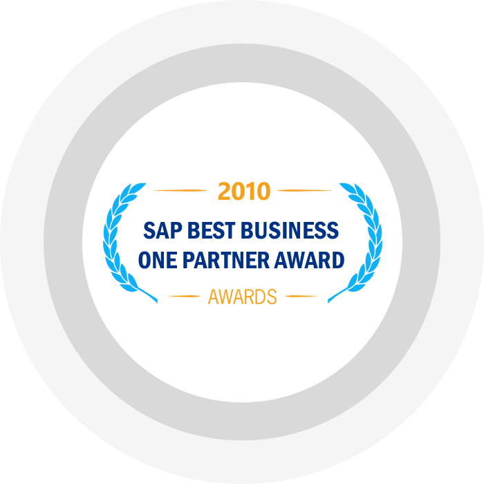 SAP Best Business One Partner Award 2010