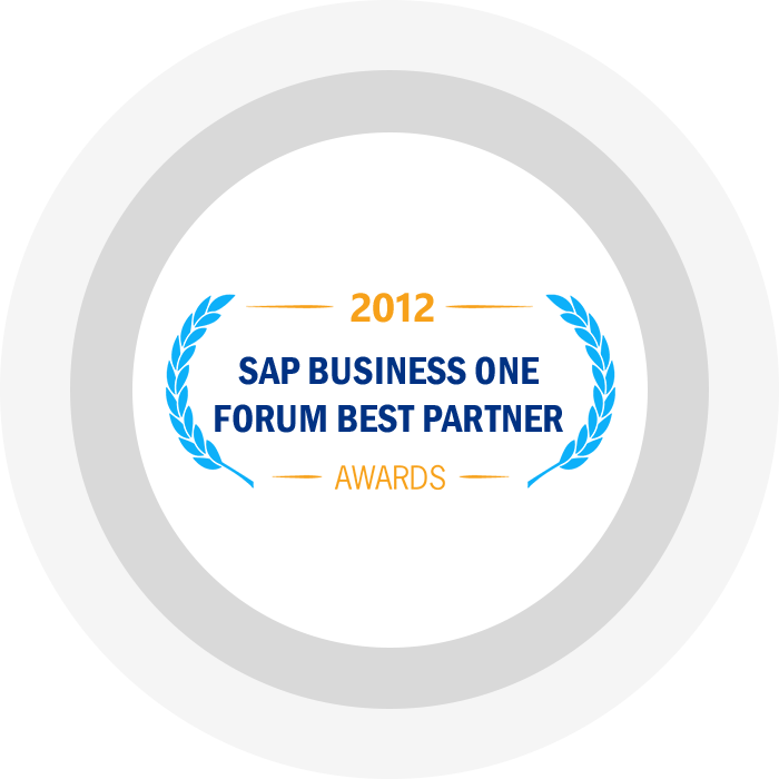 SAP Business One Forum 2012 Best Partner Award West